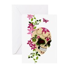 SugarSkullStargazersTall Greeting Cards (Pk of 10)