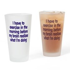 Early Morning Exercise Drinking Glass