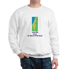 Israel Map Forever Sweatshirt