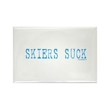 Skiers SUCK! Rectangle Magnet