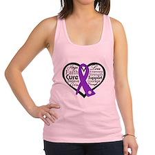 Lupus Heart Ribbon Racerback Tank Top