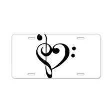 Unique Music Aluminum License Plate