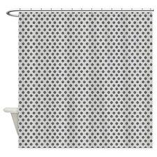 Gray Dots Shower Curtain