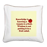 Tomato Fruit Salad Square Canvas Pillow
