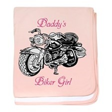 Daddy's Biker Girl baby blanket