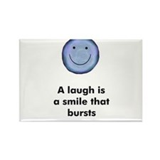 A laugh is a smile that burst Rectangle Magnet