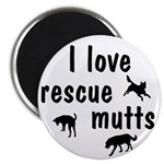 I Love Rescue Mutts Magnet