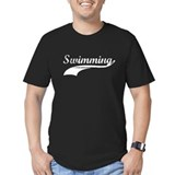 Retro Swimming Black T-Shirt