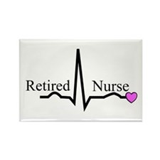 Retired Nurse QRS Rectangle Magnet (10 pack)