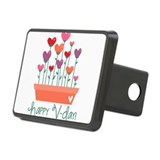 Happy Valentines Day Heart Plant Hitch Cover