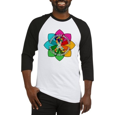 Autism Awareness Petal Baseball Jersey
