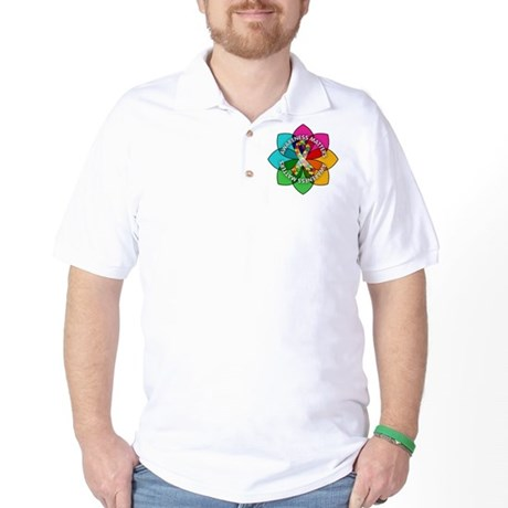 Autism Awareness Petal Golf Shirt