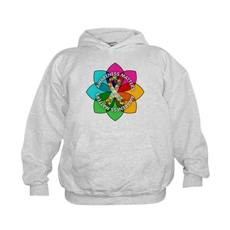 Autism Awareness Petal Kids Hoodie