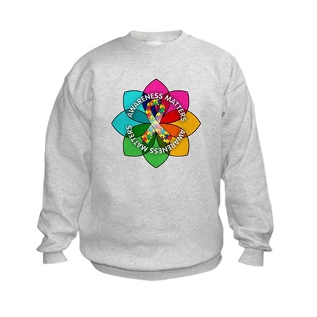 Autism Awareness Petal Kids Sweatshirt
