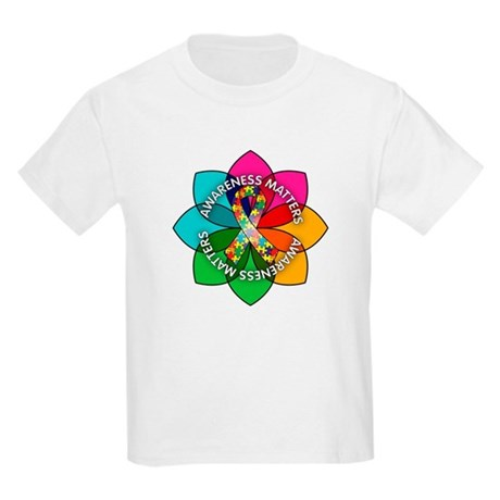 Autism Awareness Petal Kids Light T-Shirt