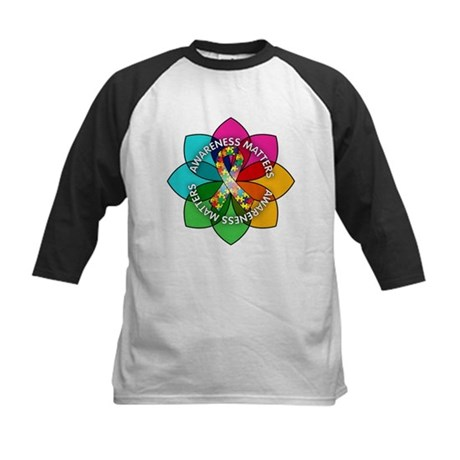 Autism Awareness Petal Kids Baseball Jersey