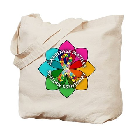 Autism Awareness Petal Tote Bag