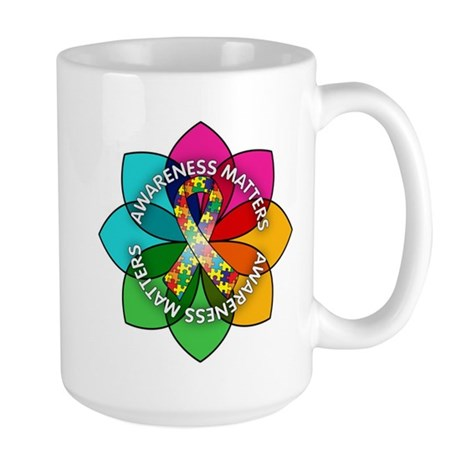 Autism Awareness Petal Large Mug