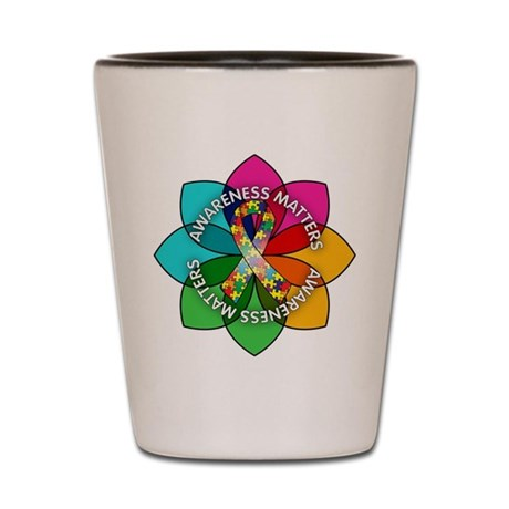 Autism Awareness Petal Shot Glass
