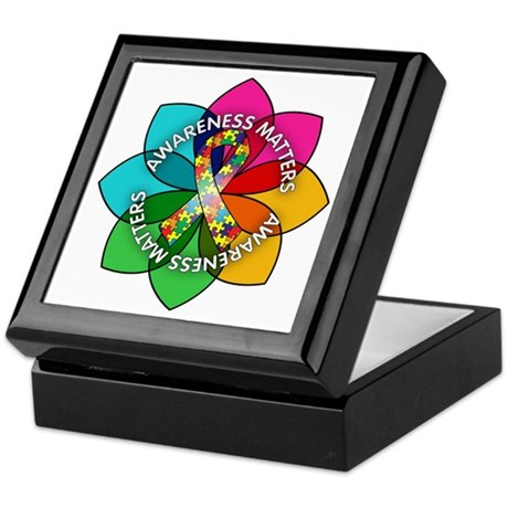 Autism Awareness Petal Keepsake Box