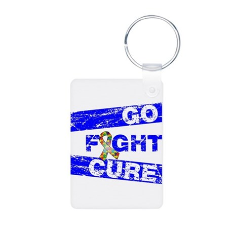 Autism Awareness Together Aluminum Photo Keychain
