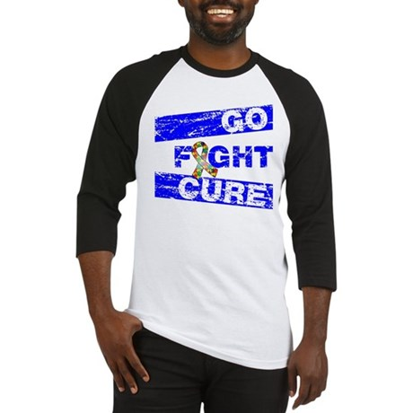 Autism Go Fight Cure Baseball Jersey