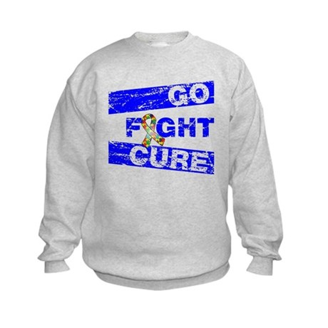 Autism Go Fight Cure Kids Sweatshirt
