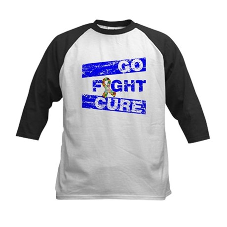 Autism Go Fight Cure Kids Baseball Jersey