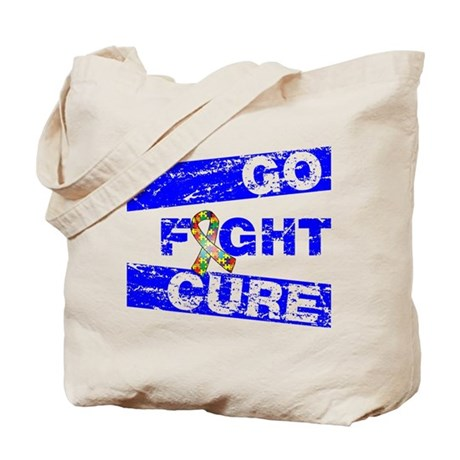 Autism Go Fight Cure Tote Bag