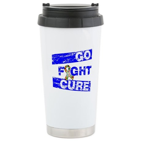 Autism Go Fight Cure Ceramic Travel Mug