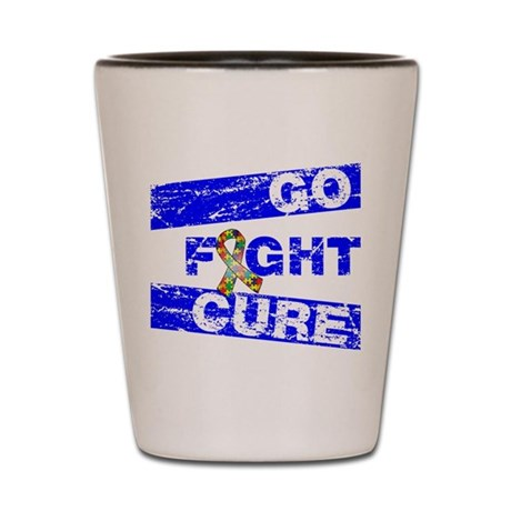 Autism Go Fight Cure Shot Glass