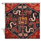 Cloudband Rug Medallion Shower Curtain