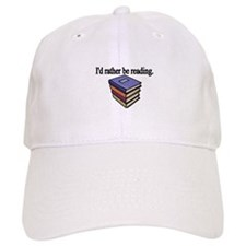Id rather be reading Baseball Baseball Cap
