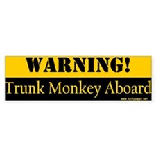 Original Trunk Monkey Bumper Bumper Sticker
