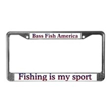 Bass Fish America License Plate Frame