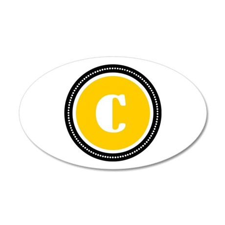 Yellow 35x21 Oval Wall Decal