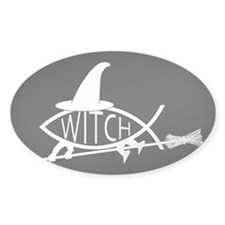 Witch Fish Rectangle Decal