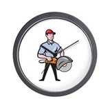 concrete-sawing-drilling-worker_EPS10 Wall Clock