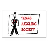 Texas Juggling Society rectangular sticker