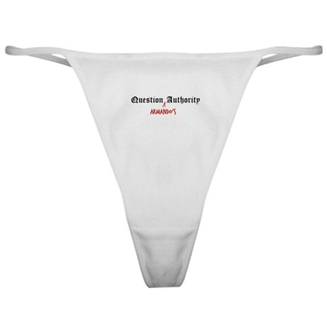 Question Armando Authority Classic Thong