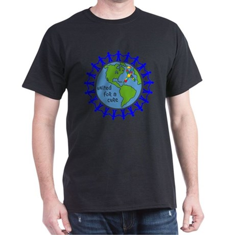 Autism United For A Cure Dark T-Shirt