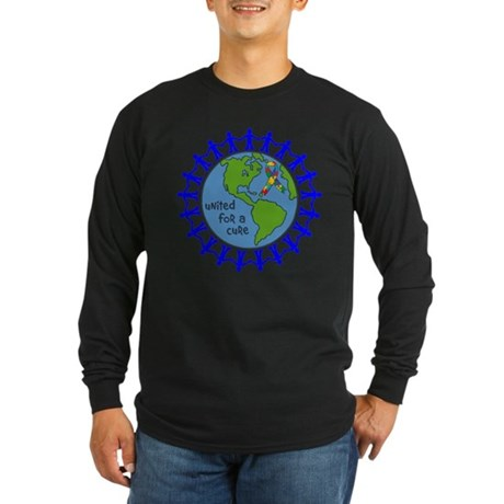 Autism United For A Cure Long Sleeve Dark T-Shirt