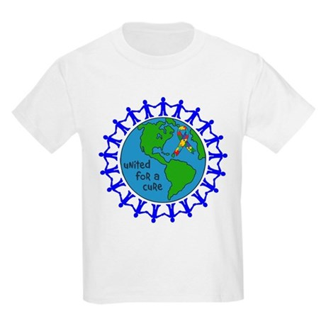 Autism United For A Cure Kids Light T-Shirt
