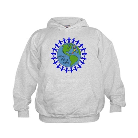 Autism United For A Cure Kids Hoodie