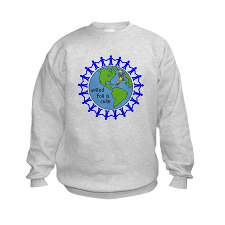 Autism United For A Cure Kids Sweatshirt