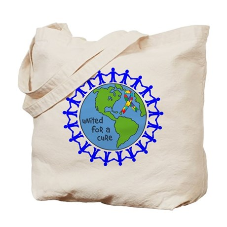 Autism United For A Cure Tote Bag