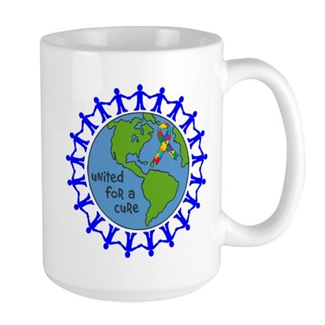 Autism United For A Cure Large Mug
