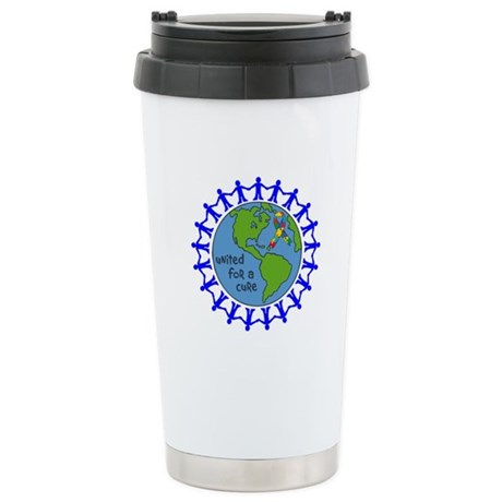 Autism United For A Cure Ceramic Travel Mug