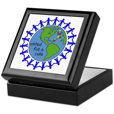 Autism United For A Cure Keepsake Box