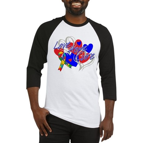 Autism Love Hope Cure Baseball Jersey